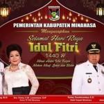 Hadiri Shalat Ied, ROR-RD: Selamat Merayakan Idul Fitri 1440 H, Mohon Maaf Lahir Batin
