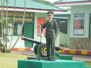 Komandan Kodim 1302Min Bacakan Sambutan Kepala BPIP di Peringatan Hari Lahir Pancasila.