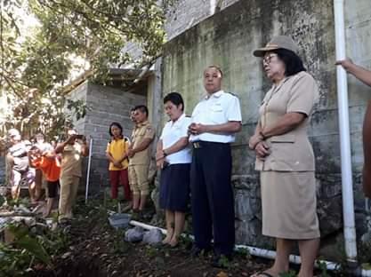 Peletakan batu pertama mengawali pembangunan Talud, Dandes Tahap 2 Desa Kumelembuai Atas Tahun 2019