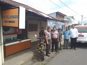 Polsek Kawangkoan Siapkan Pengamanan Pos Pelayanan Lebaran 2019.