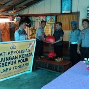 Sambut HUT Bhayangkara ke 73. Polsek Tondano Kunjungi Purnawiran Polri.