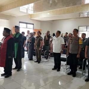 Sekda JRK Hadiri Pelantikan Wakil Ketua PN Tondano