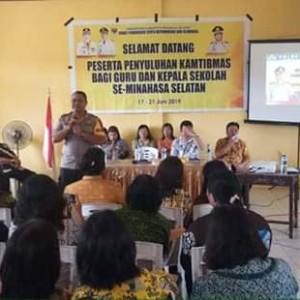 Tekan Angka Kriminalitas di Kalangan Remaja, Kapolres Minsel Imbau Guru Tanamkan Pembinaan Moral