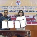 Wakili APKASI, Bupati Minsel Teken MoU Kerjasama Bidang Olahraga Dengan Kemenpora