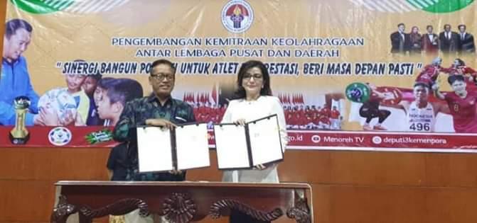 Wakili APKASI, Bupati Minsel Teken MoU Kerjasama Bidang Olahraga Dengan Kemenpora1