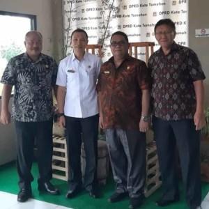 Sekretaris DPRD Tomohon dan Pimpinan serta Anggota DPRD Kepulauan Sangihe