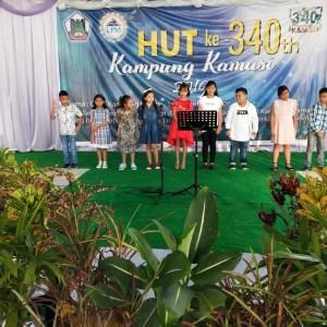 Peserta ,lomba Bintang Vokalia dalam rangka HUT ke-340 Kampung Kamasi