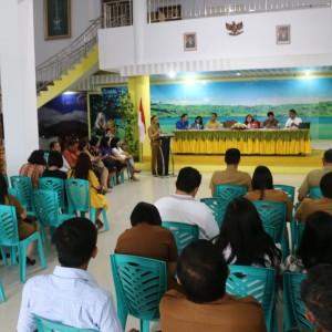 Sosialisasi penerimaan Pasca Sarjana Unima di Rumah Dinas Wali Kota Tomohon