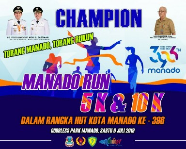"""Sabtu Besok Dispora Manado Gelar Maraton """"Manado Run 5 K dan 10 K"""""""