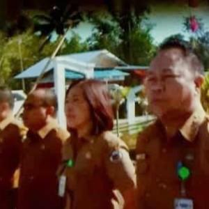 Direktur RSUD Anugerah dr Jerry Bororing bersama jajaran