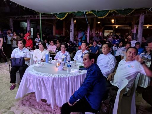 Wali kota bersama jajaran menghadiri pesta rakyat di Pulau Bunaken