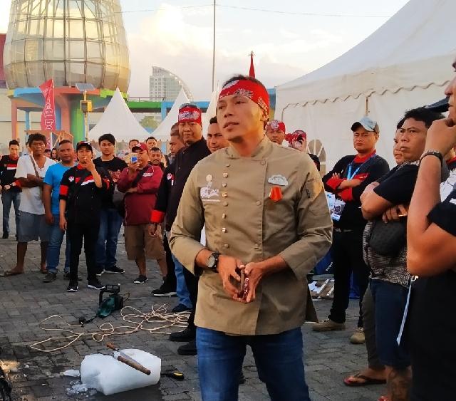 Kung Fu' Chef Muto Tiba di Lokasi Culinary Festival Manado Fiesta 2019
