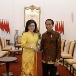 Dampingi Ketum Airlangga, CEP dan Ketua DPD 1 PG se-Indonesia Bertemu Presiden Jokowi