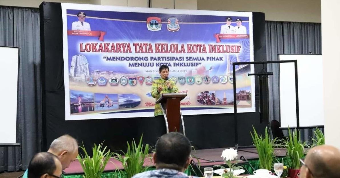 Hadiri Pembukaan Lokakarya APEKSI Komwil VI, Lumentut: Selamat Datang di Kota Doa