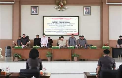 DPRD Minsel Laksanakan Rapat Paripurna Tingkat Satu Ranperda APBD-P 2019