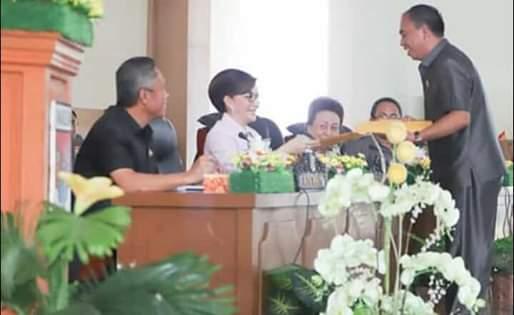 DPRD Minsel Laksanakan Rapat Paripurna Tingkat Satu Ranperda APBD-P 20191