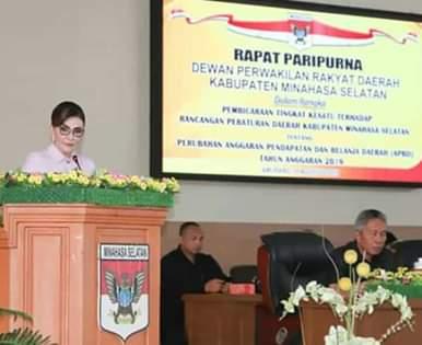 DPRD Minsel Laksanakan Rapat Paripurna Tingkat Satu Ranperda APBD-P 20192