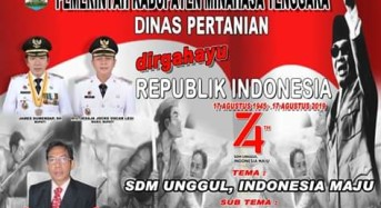 Dinas Pertanian Kabupaten Minahasa Tenggara mengucapkan Dirgahayu Republik Indonesia ke-74