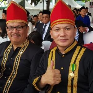 Moningka dan Keles menghadiri Upacara HUT Ke-74 Proklamasi RI di Istana Merdeka