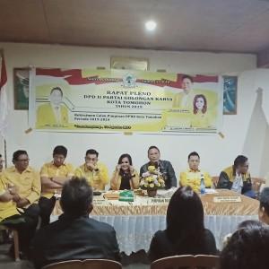 Rapat Pleno DPD II Partai Golkar Kota Tomohon untuk menetapkan Calon Ketua DPRD Tomohon Periode 2019-2024