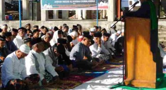 Kodim 1302 Minahasa Sholat Idul Adha di Masjid Al Hikmah Sumalangka