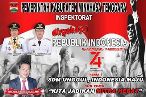Inspektorat Kabupaten Minahasa Tenggara Mengucapkan Dirgahayu Republik Indonesia ke-74