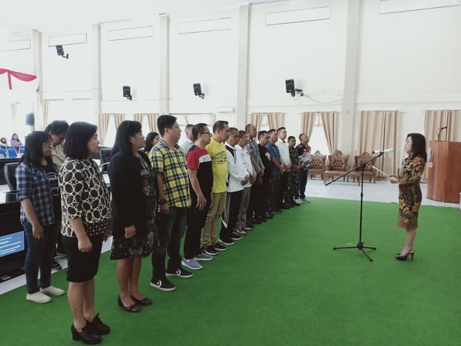 Panitia Porkot Tomohon 2019 yang dilantik