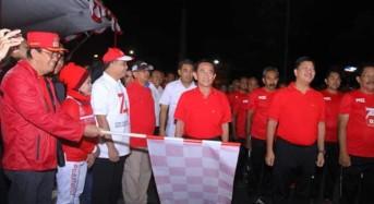 Wow… Wagub Kandouw Ikuti Lomba Gerak Jalan 45 Km Sambut HUT RI ke-74