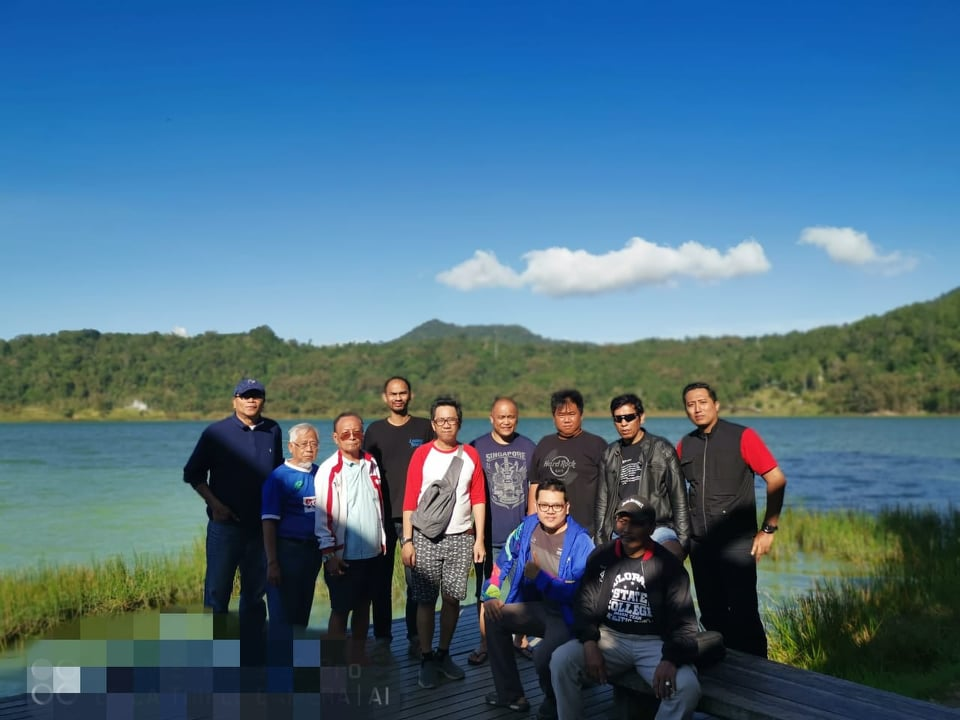 Peserta TIBT City Tour di Danau Linow