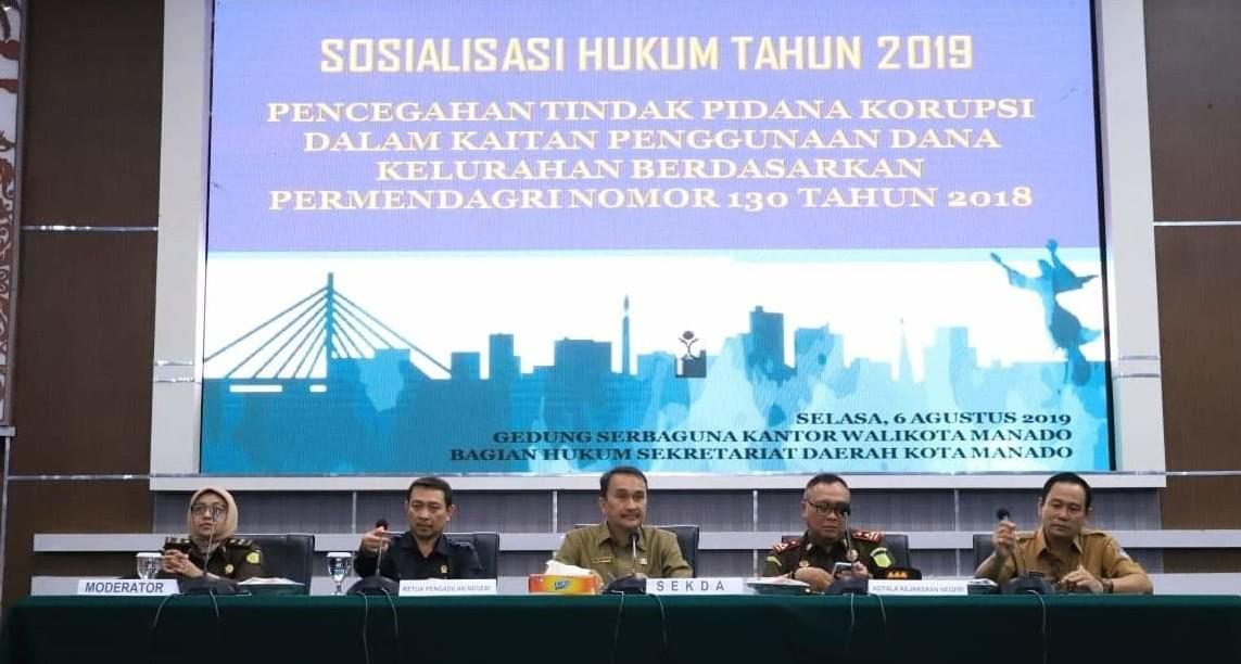 Kejari Ingatkan Lurah Se-Kota Manado Hati-hati Kelola Dana Kelurahan