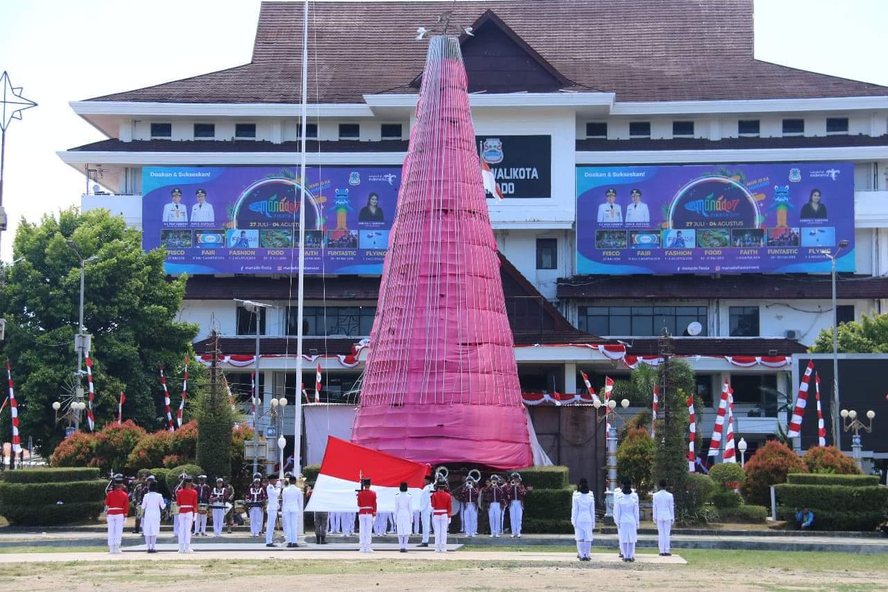 Pemkot Manado Gelar Upacara Peringatan HUT ke-74 Proklamasi Kemerdekaan Republik Indonesia