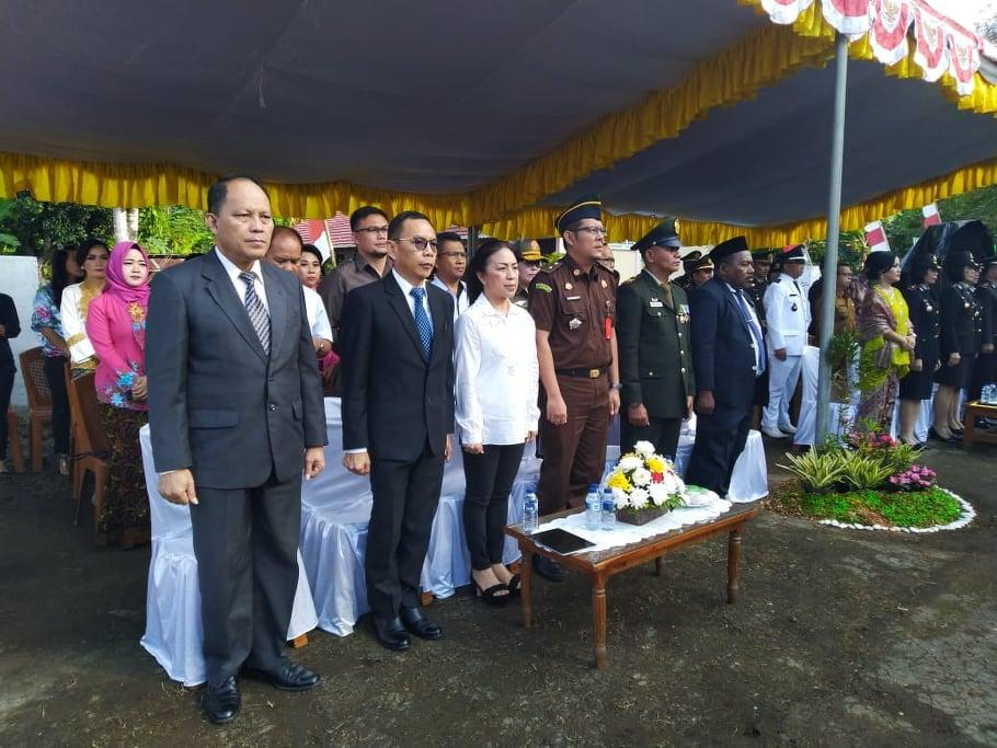 Ketua DPRD Tomohon saat menghadiri HUT ke-73 Bhayangkara
