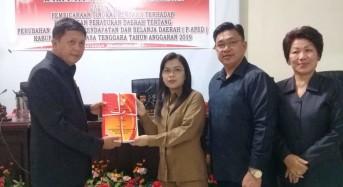 Dihadiri Wabup Legi, DPRD Mitra Terima RAPBD Perubahan Tahun 2019