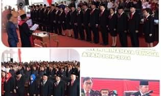 25 Anggota DPRD Minahasa Tenggara Periode 2019-2024 Resmi Dilantik
