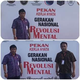Bupati James Sumendap Hadiri Pekan Kerja Nyata Revolusi Mental Tahun 2019 di Kalimantan Selatan