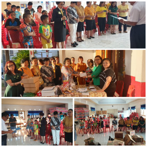 Penyerahan bantuan dari Keluarga Liow-Wenur
