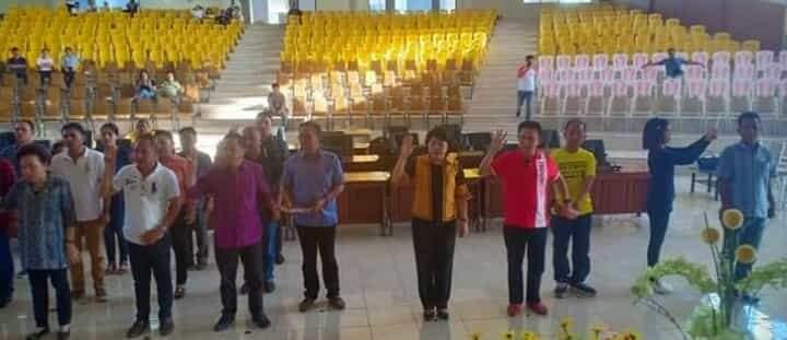 Gladi bersih pengambilan sumpah dan janji anggota DPRD Minsel periode 2019-2024