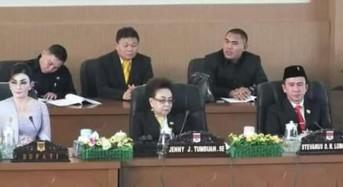 Golkar dan PDI-P Pimpinan Sementara DPRD Minsel