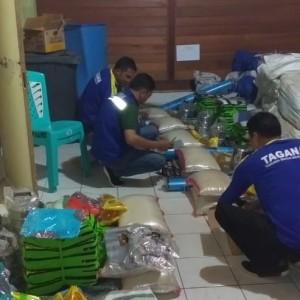 Bantuan yang disiapkan untuk korban bencana kebakaran di Matani Dua