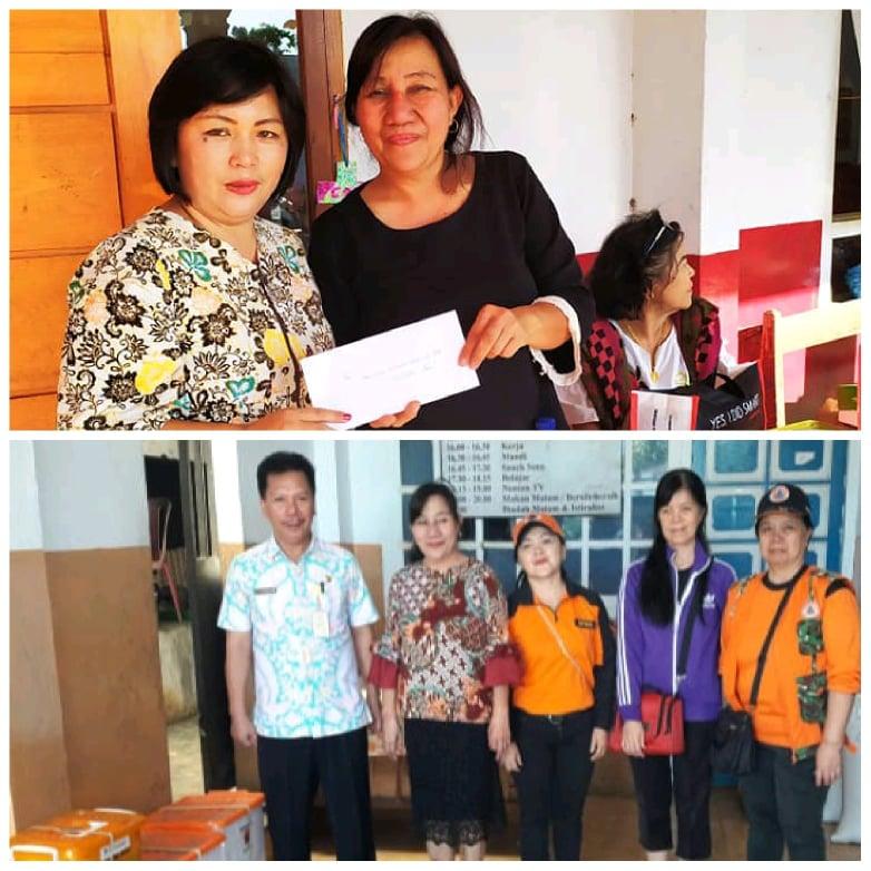 Bantuan dari keluarga Gaby Eman (Keluarga Santoso-Eman) dan BPBD