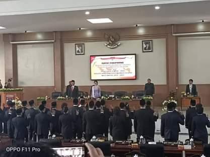 Paripurna Pengucapan Sumpah Janji Anggota DPRD Minsel 2019-2024