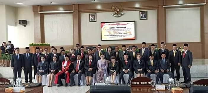 Paripurna Pengucapan Sumpah Janji Anggota DPRD Minsel 2019-20244