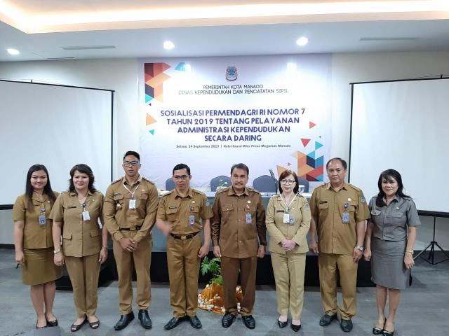 Pemkot Manado Sosialisasikan Permendagri Nomor 7 Tahun 2019
