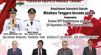 Sekda Bersama Keasistenan Kabupaten Minahasa Tenggara Ucapkan Satu Tahun Kepemimpinan JS-JL