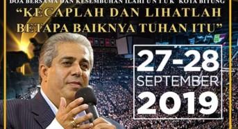 KKR Oikumene Pastor Henry Hinn Hentak Bitung 27-28 September