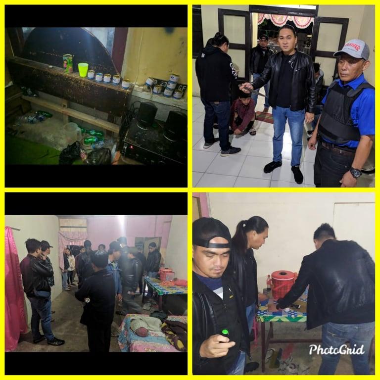 Tim URC Totosik saat mengamankan barang bukti