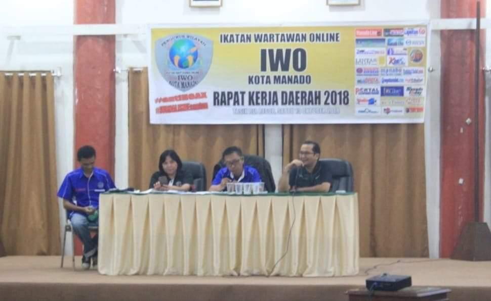 Rakerda pertama IWO Kota Manado yang digelar pada tahun 2018 lalu