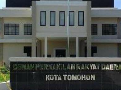 20 penghuni kantor DPRD Tomohon dilantik hari ini