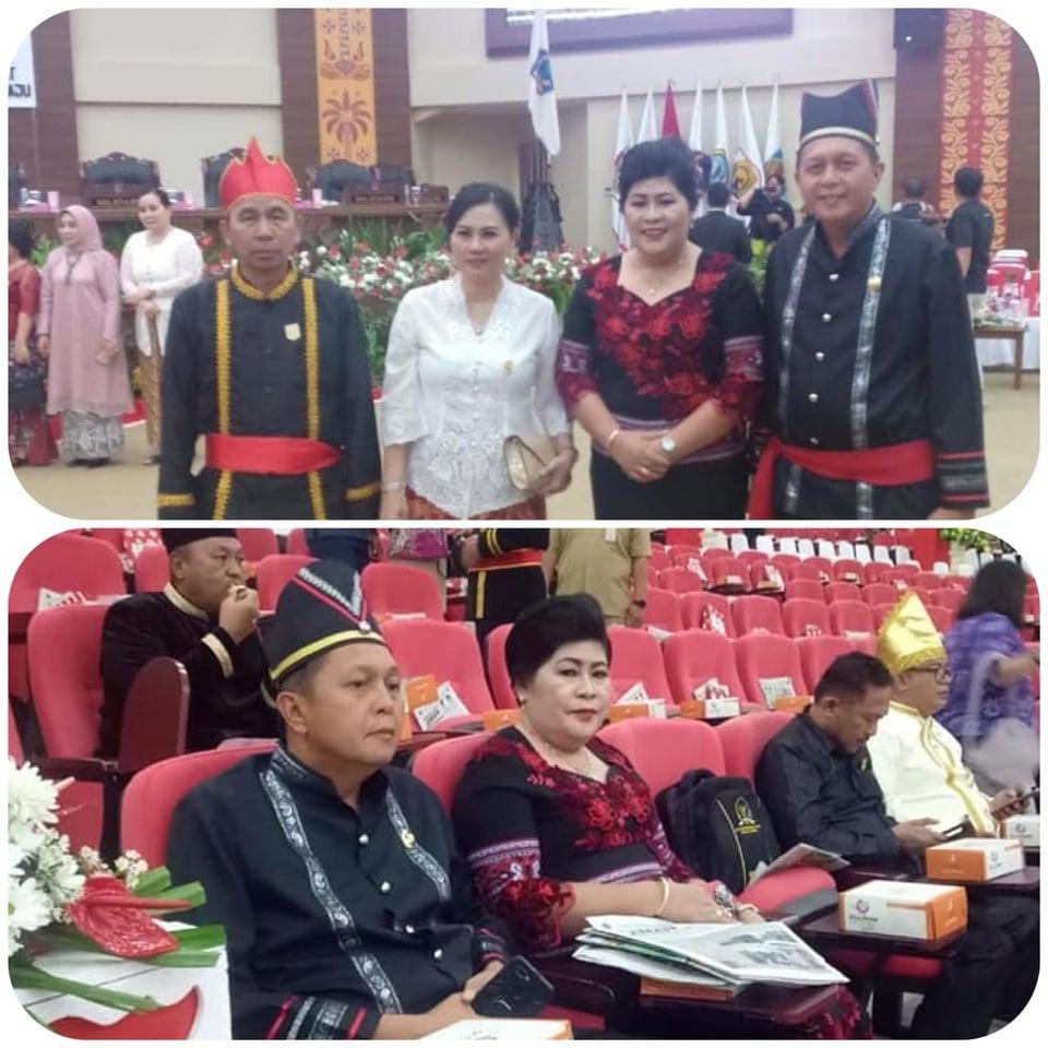 Wakil Bupati dan Ketua DPRD Mitra mengikuti Rapat Paripurna HUT ke-55 Sulut