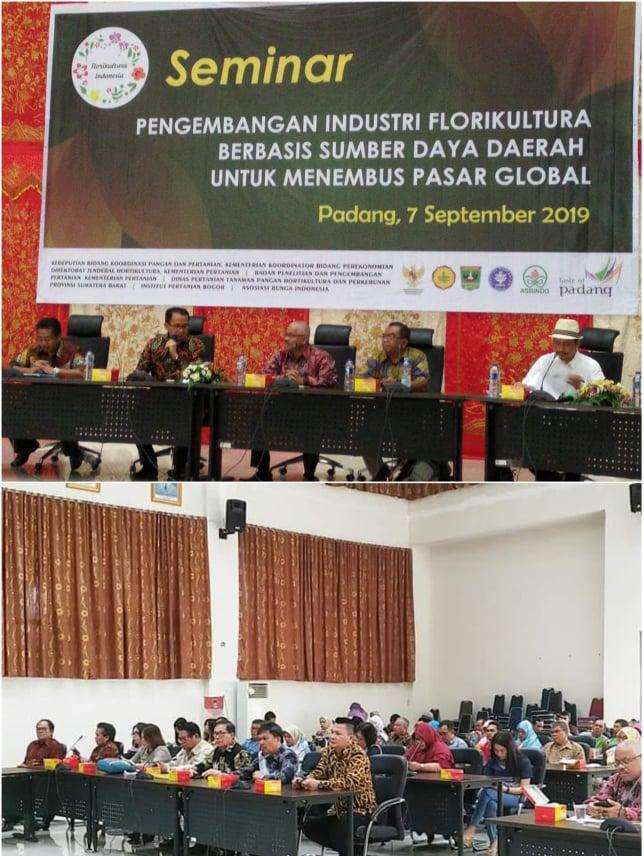 Wakil Ketua DPRD Tomohon dan Komisi II  mengikuti Seminar Pengambangan Florikultura di Padang